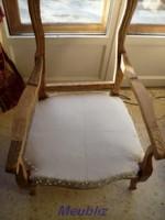 pose de la toile blanche - Restaurer Un Fauteuil Voltaire