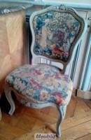 chaise louis xv pied de biche et sculpture. Black Bedroom Furniture Sets. Home Design Ideas