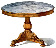 table louis philippe forme massive mais solide. Black Bedroom Furniture Sets. Home Design Ideas