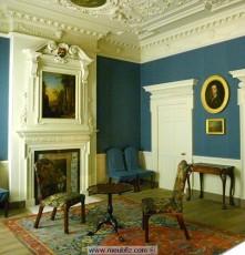 Les styles anglais des meubles en acajou et des formes for Salon de style anglais