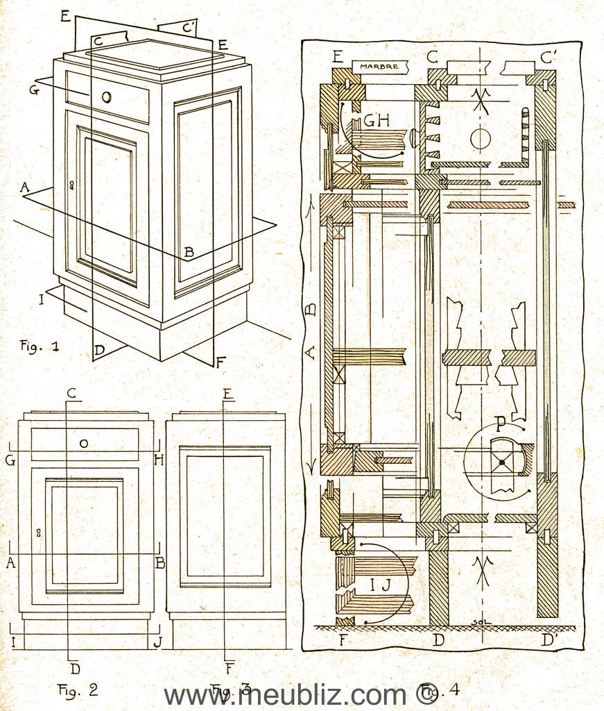 Plan De Table De Chevet Debut Xxe Siecle