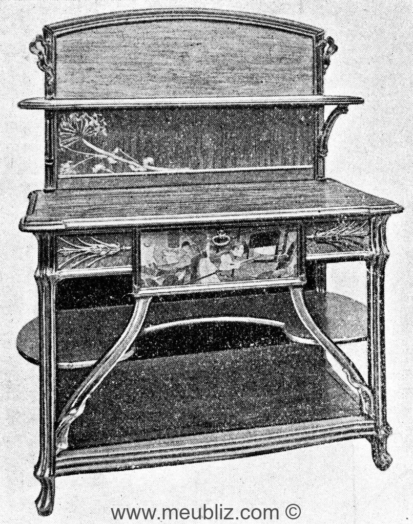 grande desserte art nouveau tag res meuble de style. Black Bedroom Furniture Sets. Home Design Ideas
