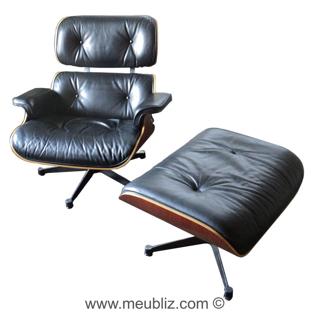 Fauteuil lounge chair et ottoman n 670 et n 671 par for Fauteuil charles eames original