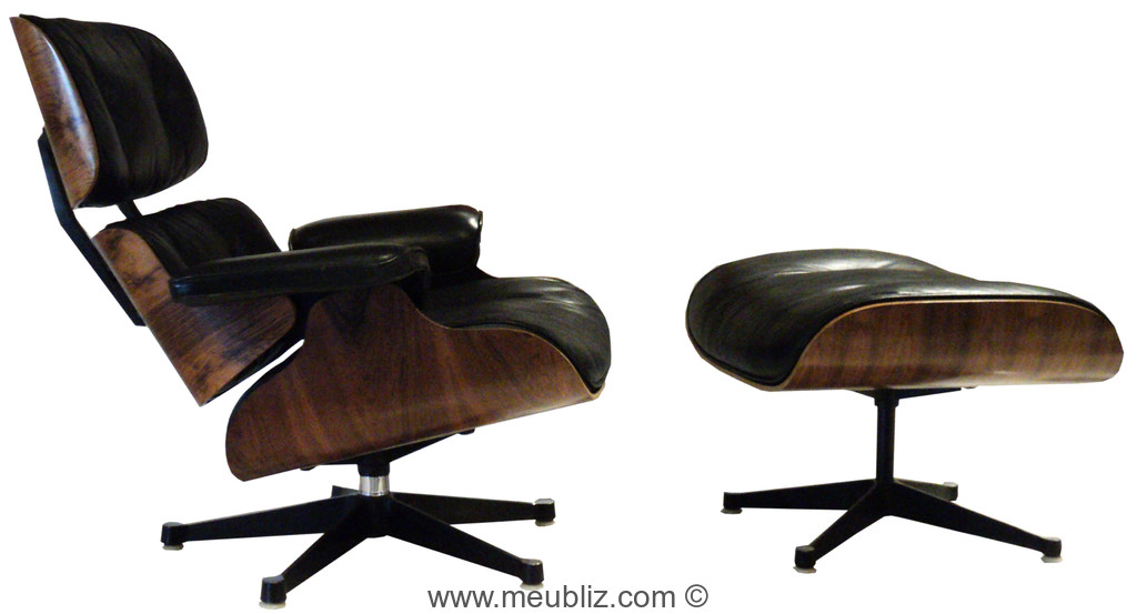 fauteuil lounge chair et ottoman n 670 et n 671 par charles eames et ray eames meuble. Black Bedroom Furniture Sets. Home Design Ideas