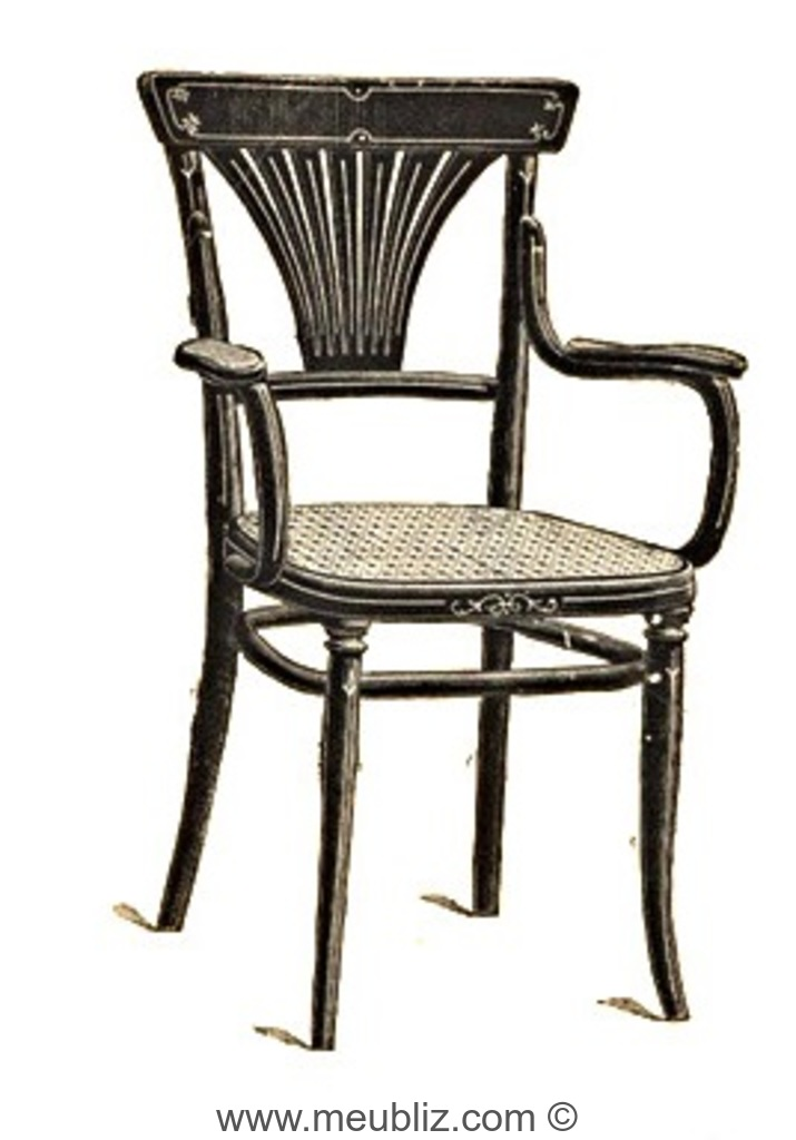 fauteuil n 1221 par michael thonet. Black Bedroom Furniture Sets. Home Design Ideas