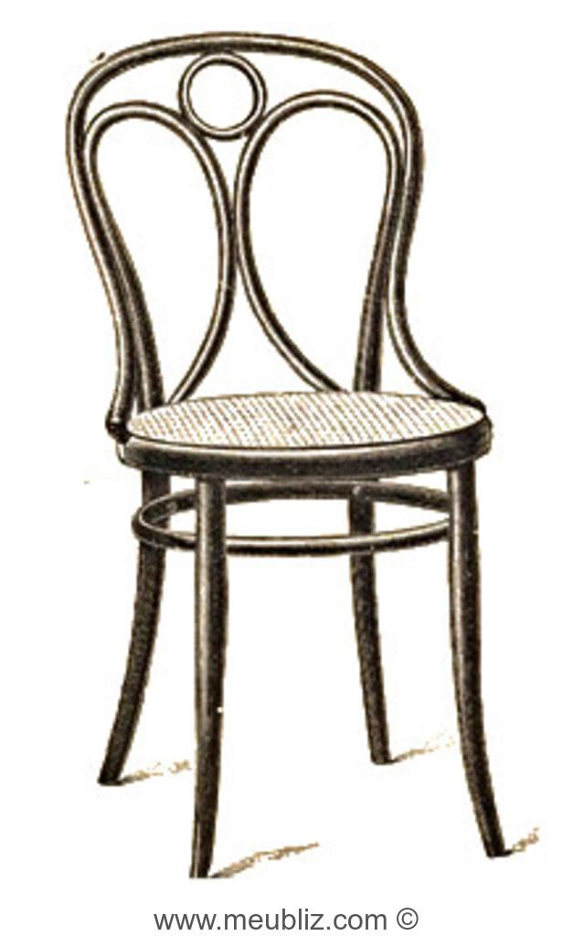 chaise n 19 par michael thonet. Black Bedroom Furniture Sets. Home Design Ideas