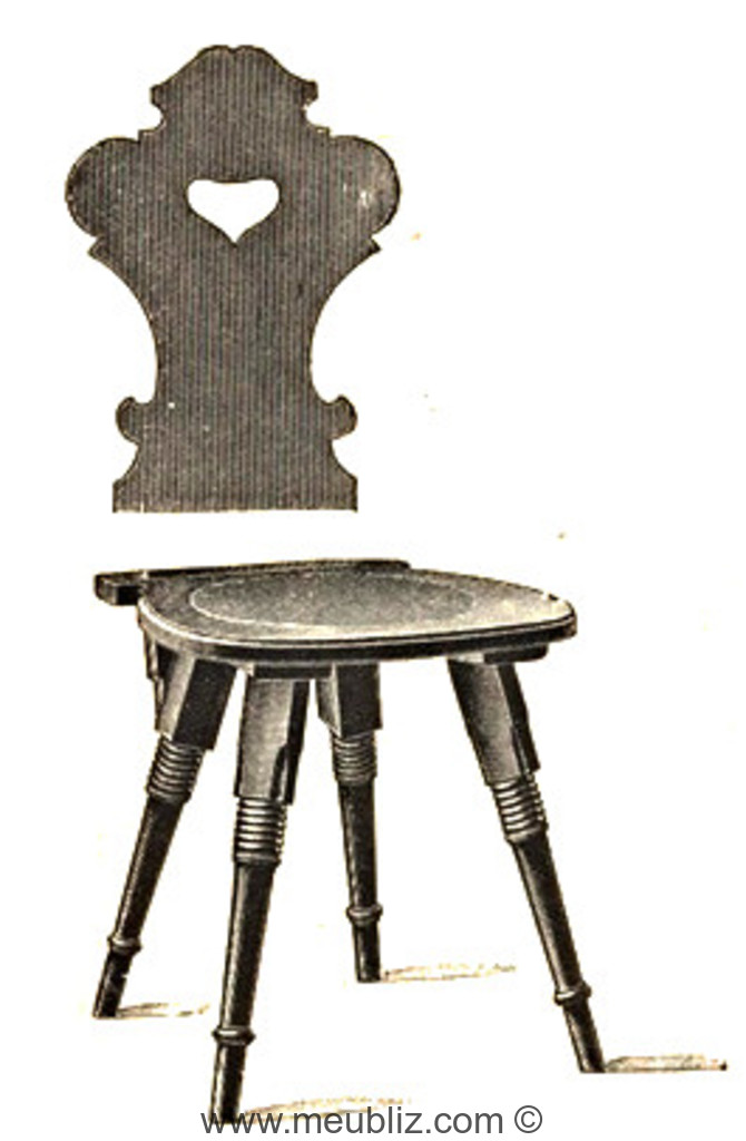 chaise rustique n 214 thonet. Black Bedroom Furniture Sets. Home Design Ideas