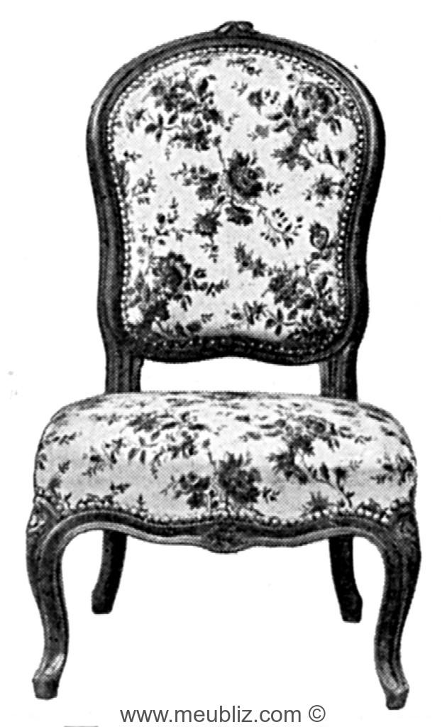 chauffeuse louis xv garnie dossier violon meuble de style. Black Bedroom Furniture Sets. Home Design Ideas