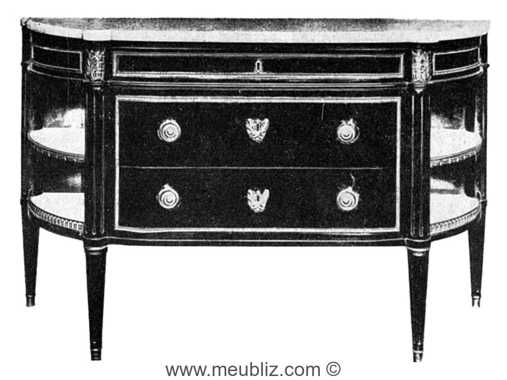 Dresser Une Table À L Anglaise commode à l'anglaise louis xvi à tiroirs - meuble de style