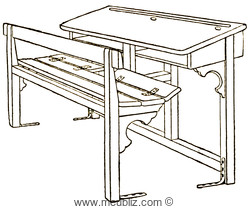 le pupitre ou table banc d 39 colier l 39 origine du mobilier scolaire. Black Bedroom Furniture Sets. Home Design Ideas
