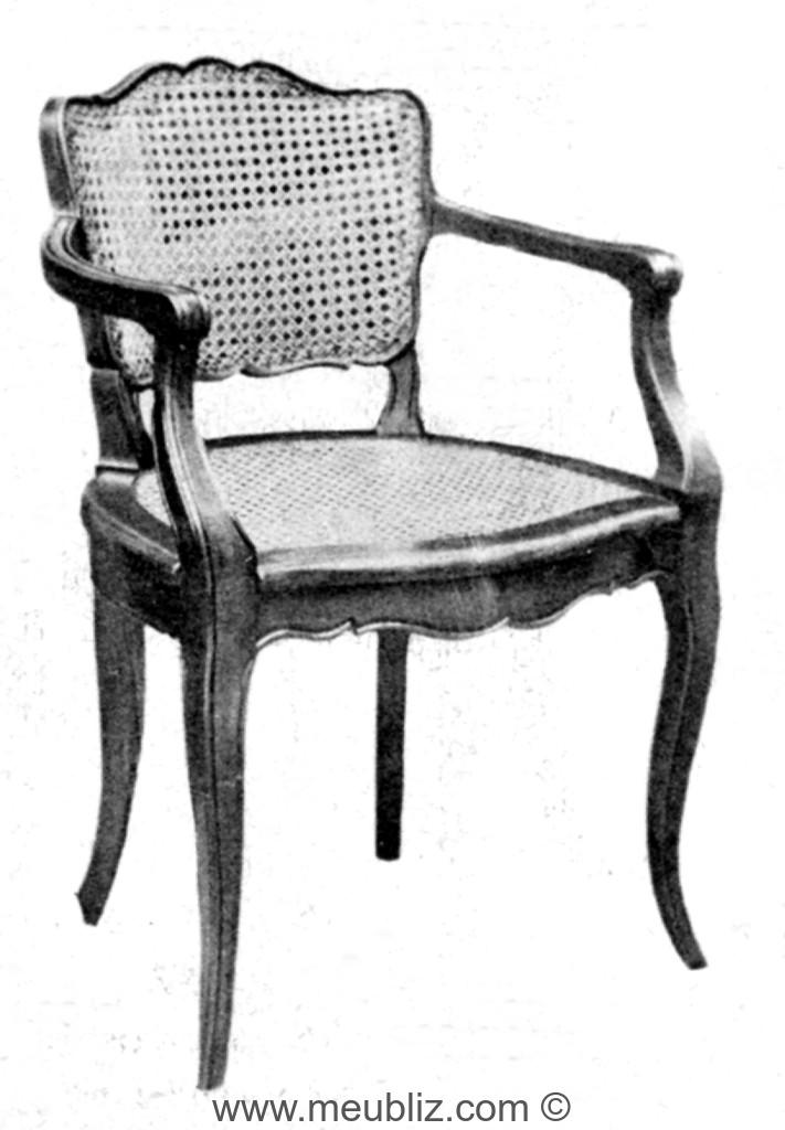 fauteuil de bureau louis xv cann petit dossier meuble de style. Black Bedroom Furniture Sets. Home Design Ideas