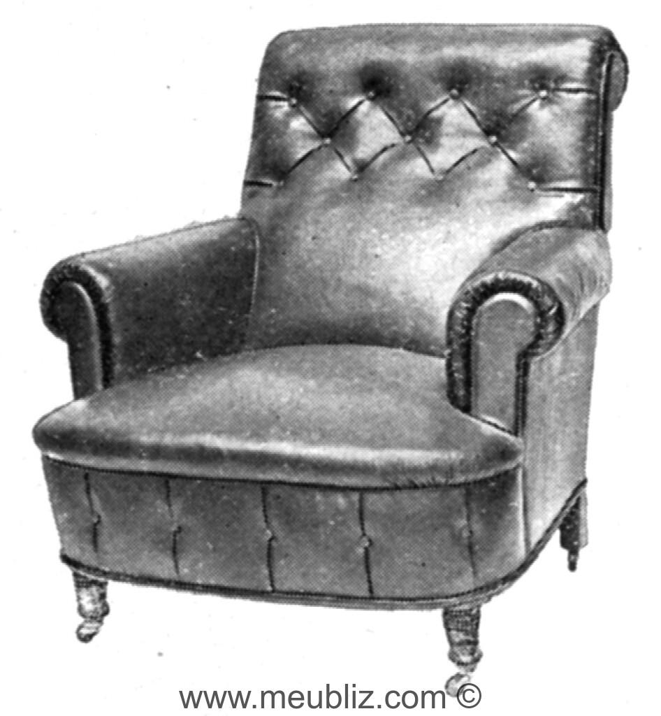fauteuil wellesley grand dossier inclin et capitonn meuble de style. Black Bedroom Furniture Sets. Home Design Ideas