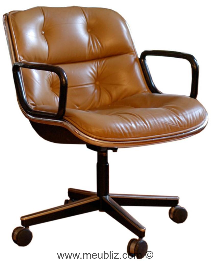 fauteuil de bureau executive par charles pollock. Black Bedroom Furniture Sets. Home Design Ideas