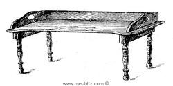Table de lit Napoléon III