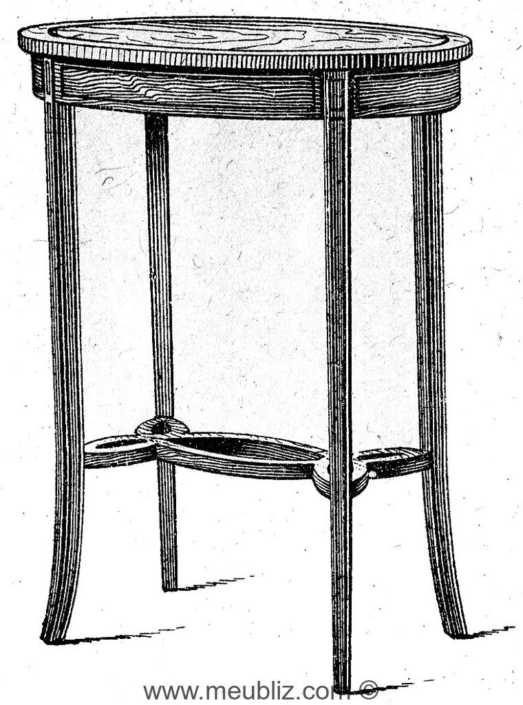petite table haute meuble de style. Black Bedroom Furniture Sets. Home Design Ideas