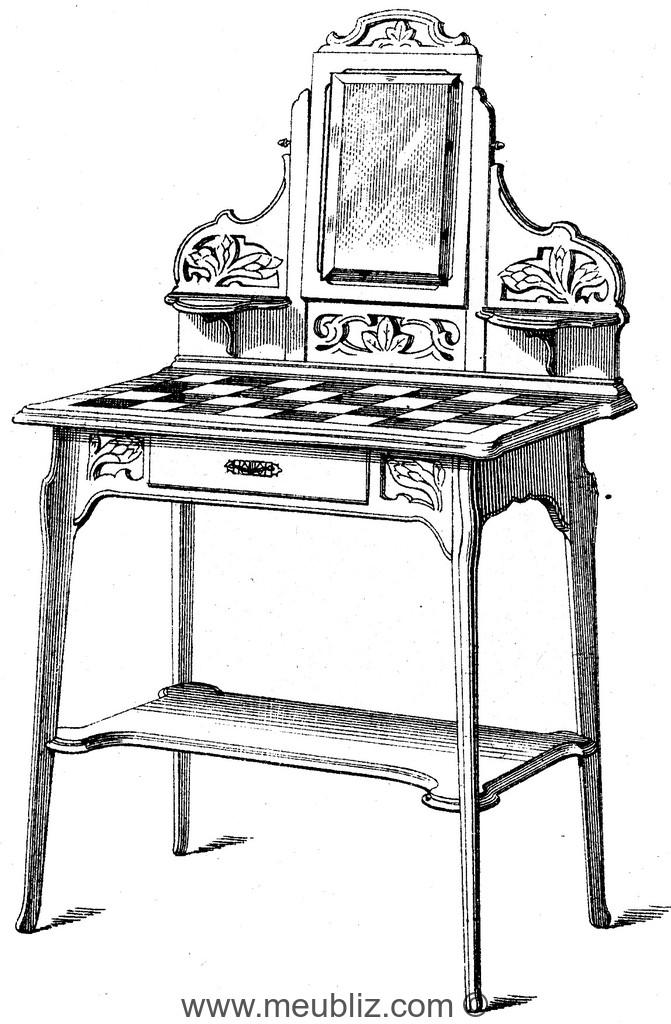 coiffeuse meuble de style. Black Bedroom Furniture Sets. Home Design Ideas