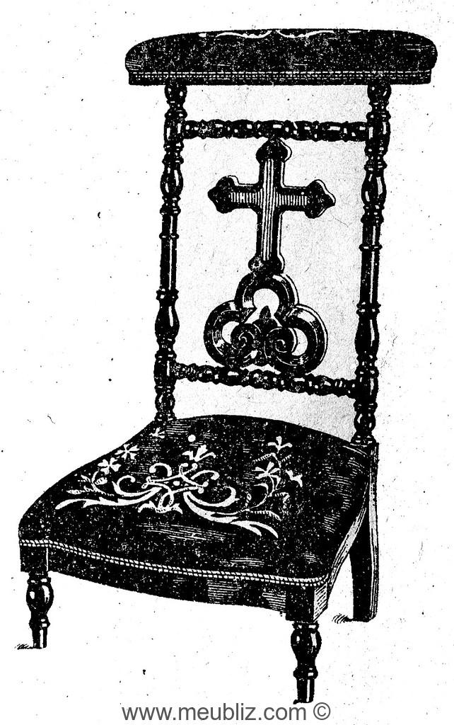 Prie dieu meuble de style for Meuble style napoleon 3