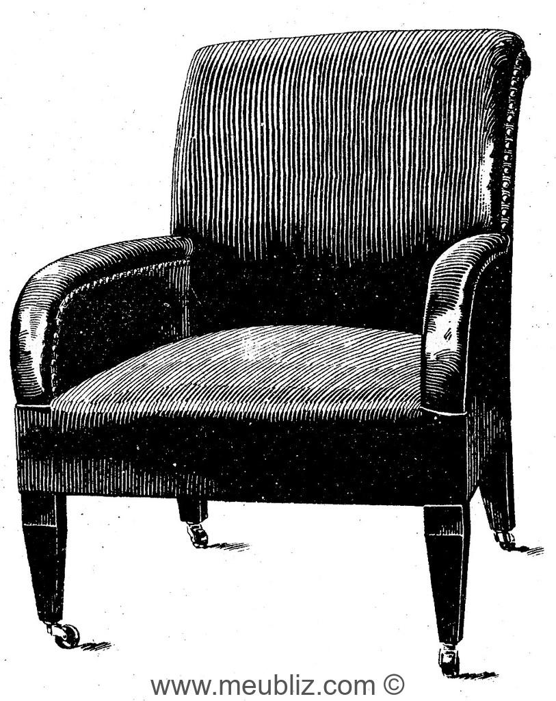 fauteuil club victorien 2 meuble de style. Black Bedroom Furniture Sets. Home Design Ideas