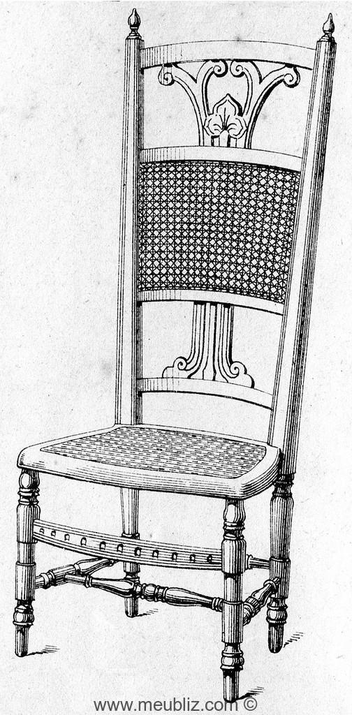 chauffeuse louis xvi haut dossier ajour motif meuble de style. Black Bedroom Furniture Sets. Home Design Ideas