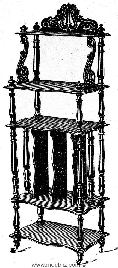Grand casier musique meuble de style for Meuble style napoleon 3