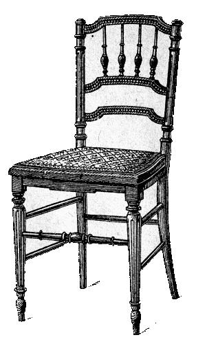 Chaise volante louis xvi dossier ajour et fuseaux for Chaise volante