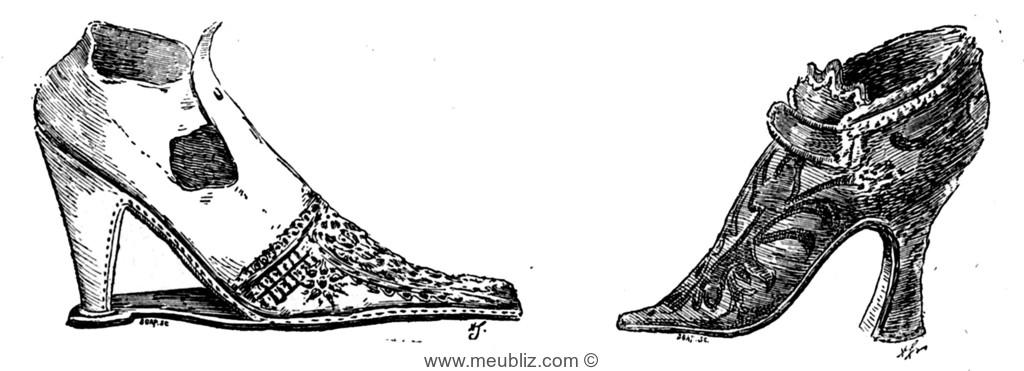8d275d4e8b01 Chaussure du XVIe siècle et Chaussure Louis XV.