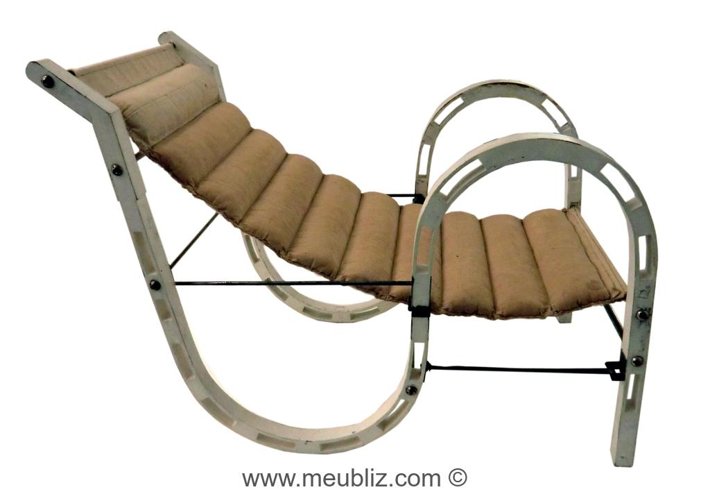 fauteuil repliable par eileen gray meuble design. Black Bedroom Furniture Sets. Home Design Ideas