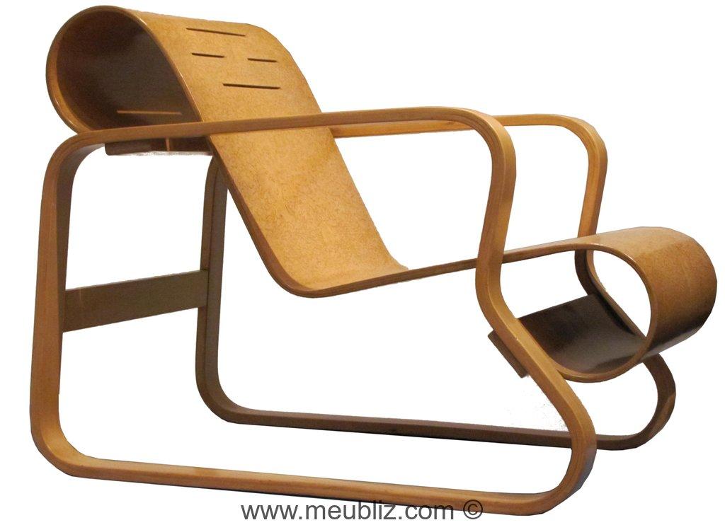 fauteuil paimio n 41 par alvar aalto meuble design. Black Bedroom Furniture Sets. Home Design Ideas