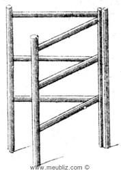 Porte Serviette Articulé Ancien Meuble Classique