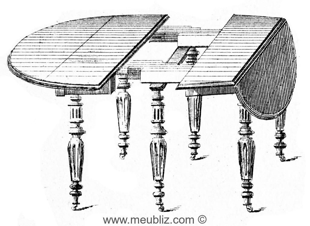 Table De Salle A Manger A Rallonges Louis Philippe A Volets