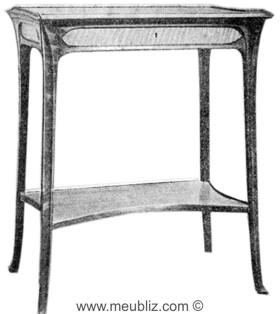 petite table console art nouveau tablette meuble de style. Black Bedroom Furniture Sets. Home Design Ideas