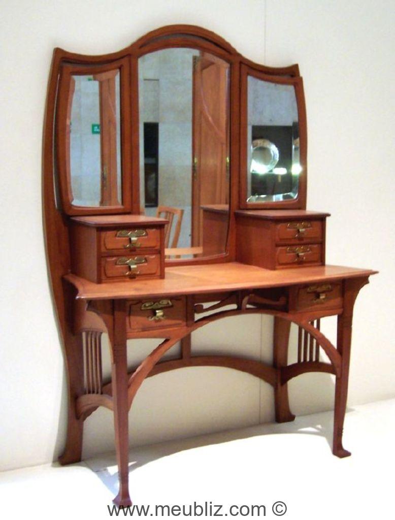 elegant coiffeuse art nouveau with meuble coiffeuse antique. Black Bedroom Furniture Sets. Home Design Ideas