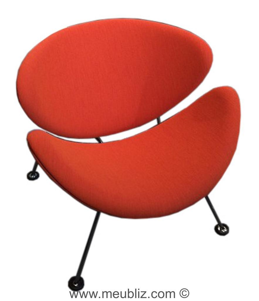 Chaise Orange Slice F437 De Pierre Paulin