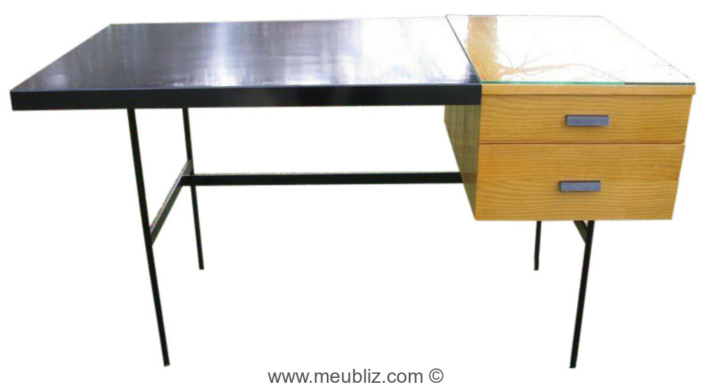 Bureau tanis cm 141 par pierre paulin meuble design for Meuble bureau 90 cm