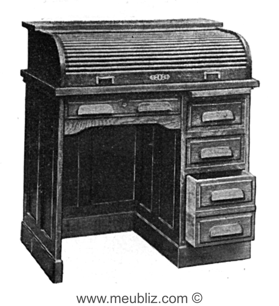 demi bureau am ricain rideau meuble classique. Black Bedroom Furniture Sets. Home Design Ideas