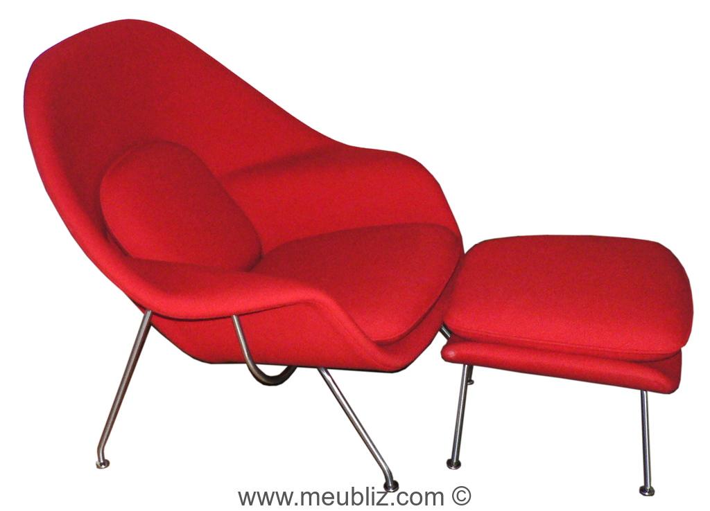 fauteuil baignoire womb chair n 70 par eero saarinen. Black Bedroom Furniture Sets. Home Design Ideas