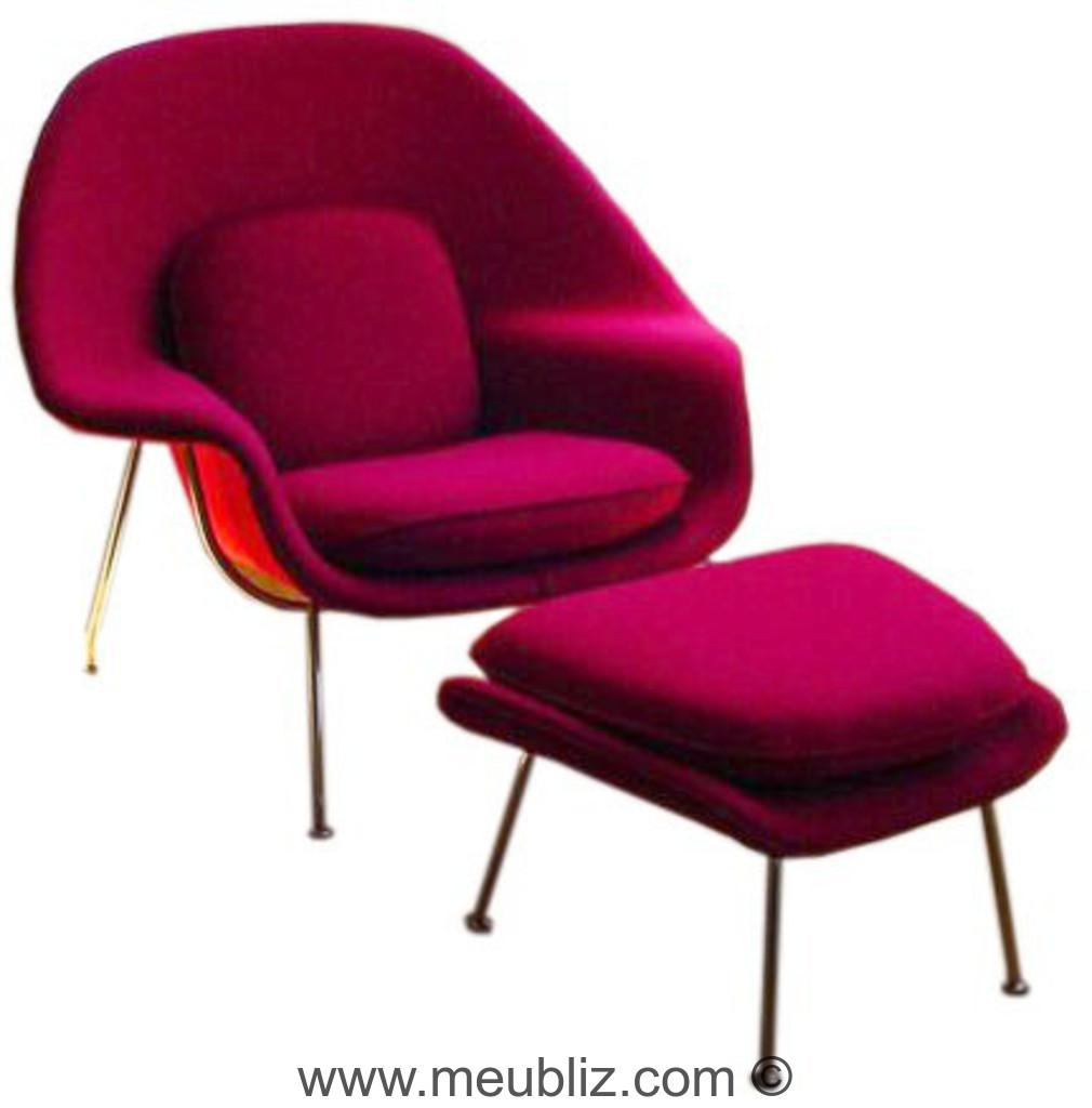 fauteuil baignoire womb chair par eero saarinen. Black Bedroom Furniture Sets. Home Design Ideas