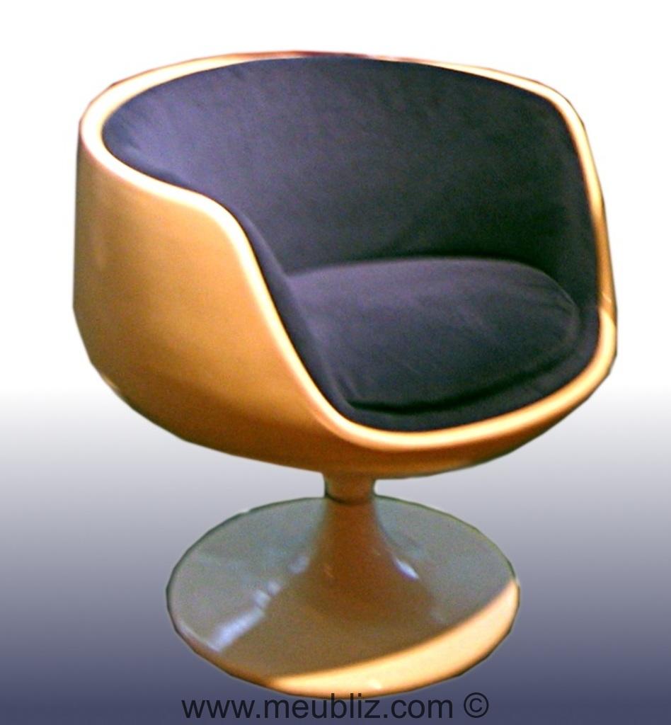 fauteuil verre cognac par eero aarnio meuble design. Black Bedroom Furniture Sets. Home Design Ideas