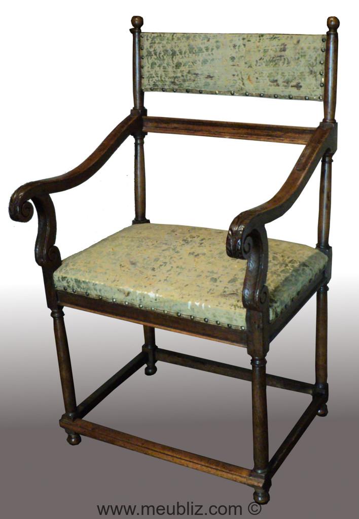 Chaise bras renaissance fran aise petit bandeau de for Chaise francaise