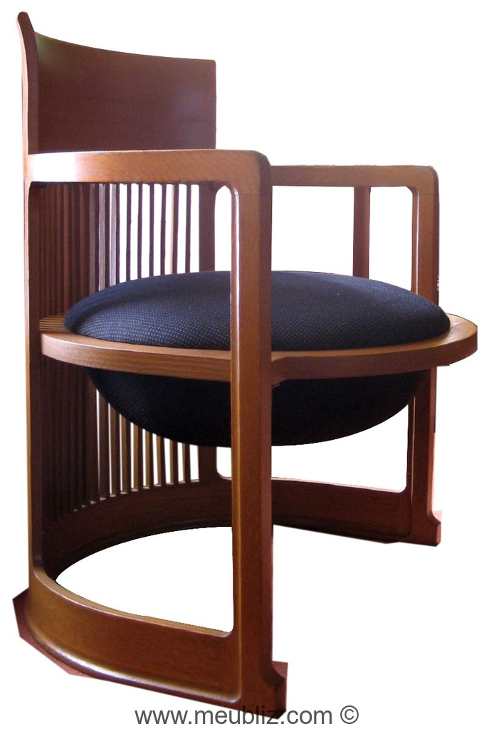 chaise barrel id al pour meubler une salle manger par frank lloyd wright meuble design. Black Bedroom Furniture Sets. Home Design Ideas