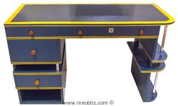 Bureau bleu et jaune par paul theodore frankl meuble design