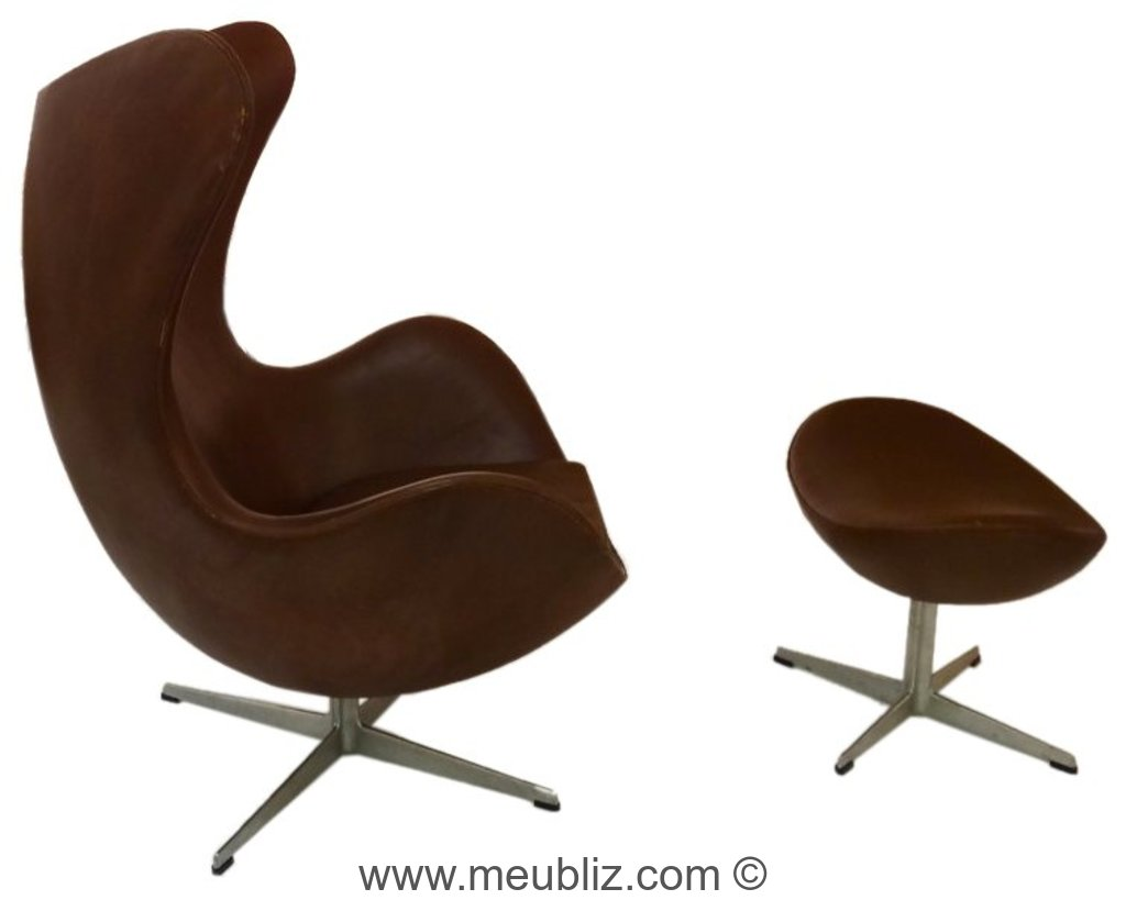 fauteuil oeuf egg chair mod le 3316 par arne jacobsen meuble design. Black Bedroom Furniture Sets. Home Design Ideas