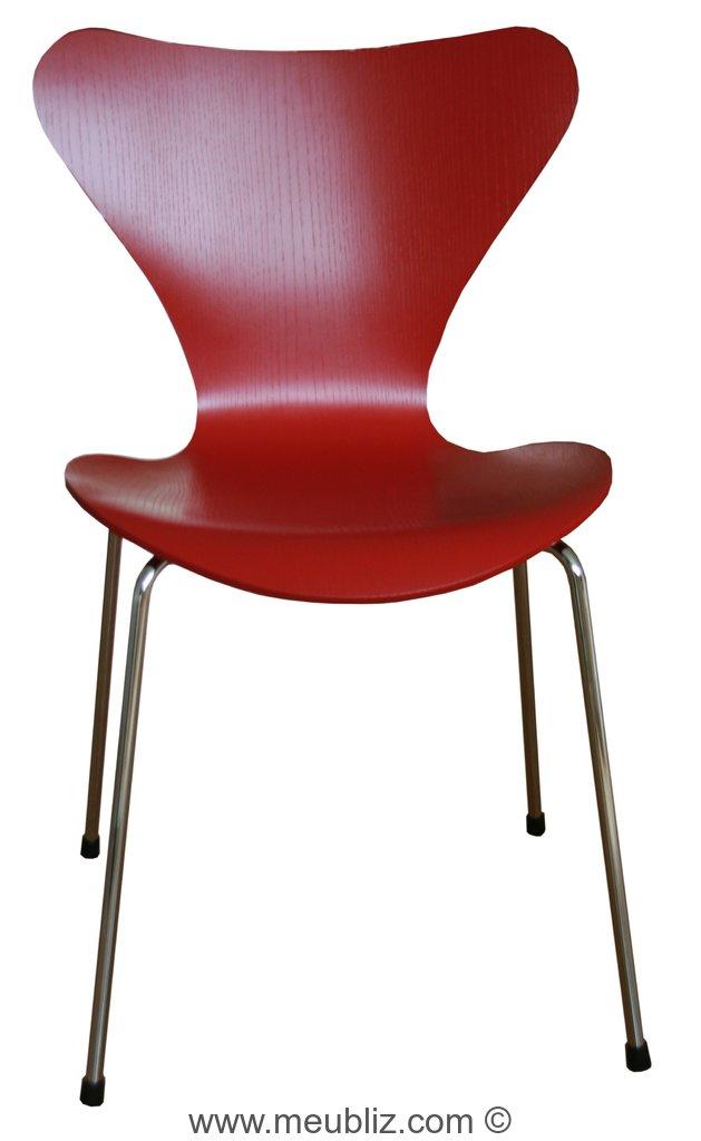 chaise empilable mod le 3107 s rie 7 par arne jacobsen meuble design. Black Bedroom Furniture Sets. Home Design Ideas
