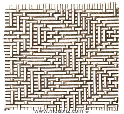 Modèle en zigzag de tressage de rotin