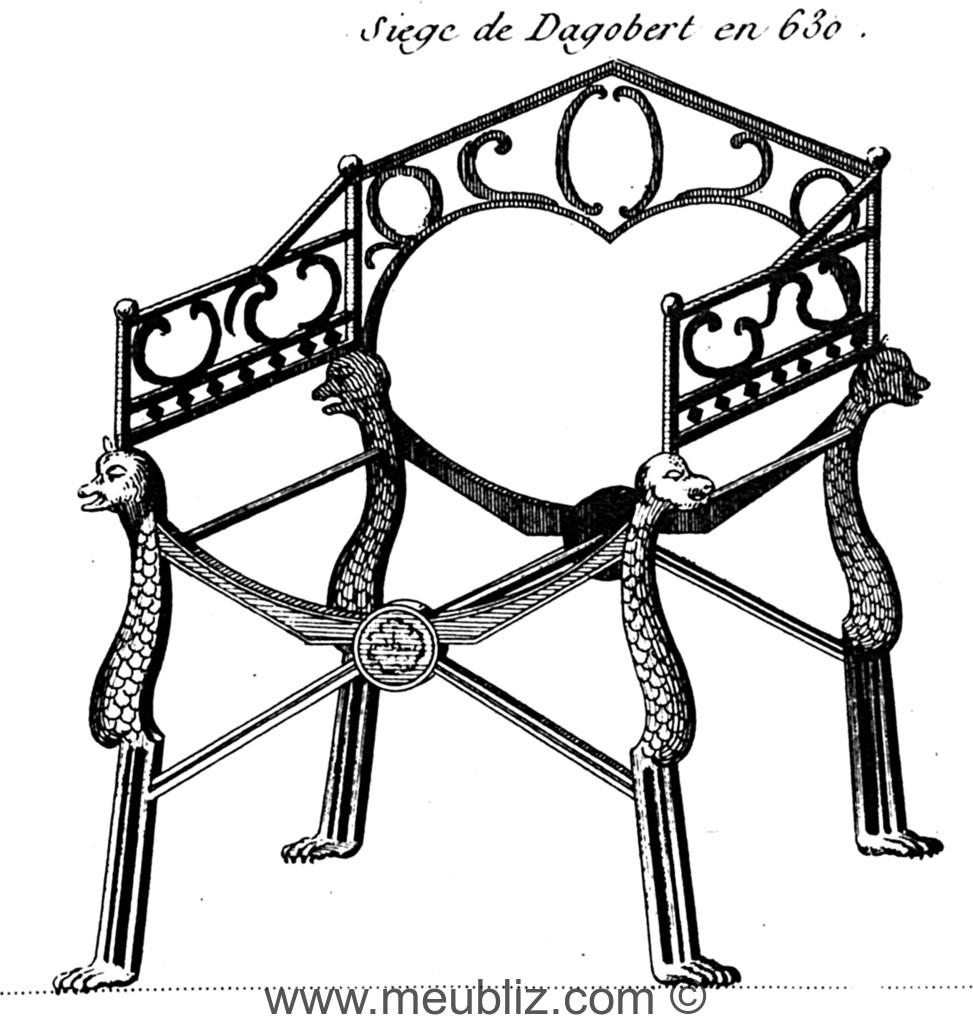 d finition d 39 un fauteuil dagobert si ge royal du moyen ge. Black Bedroom Furniture Sets. Home Design Ideas