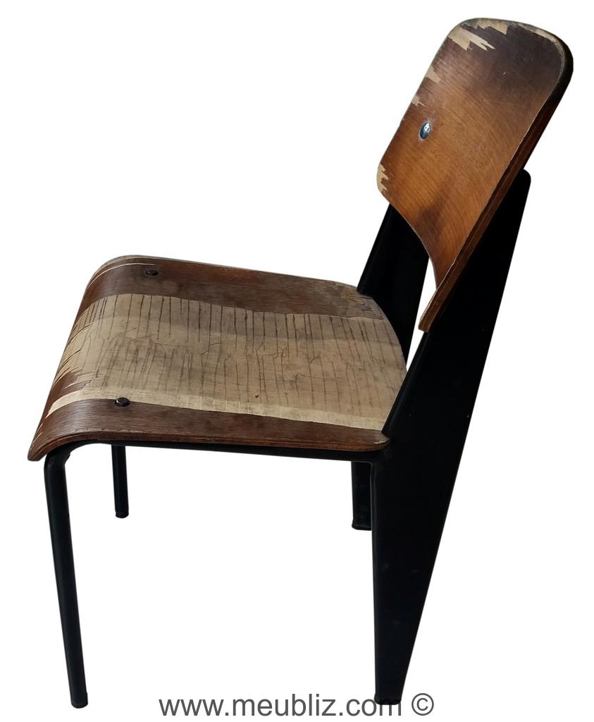 chaise standard n 305 par jean prouv meuble design. Black Bedroom Furniture Sets. Home Design Ideas