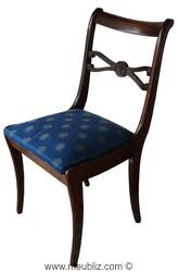 chaise de style directoire courbes sobres. Black Bedroom Furniture Sets. Home Design Ideas