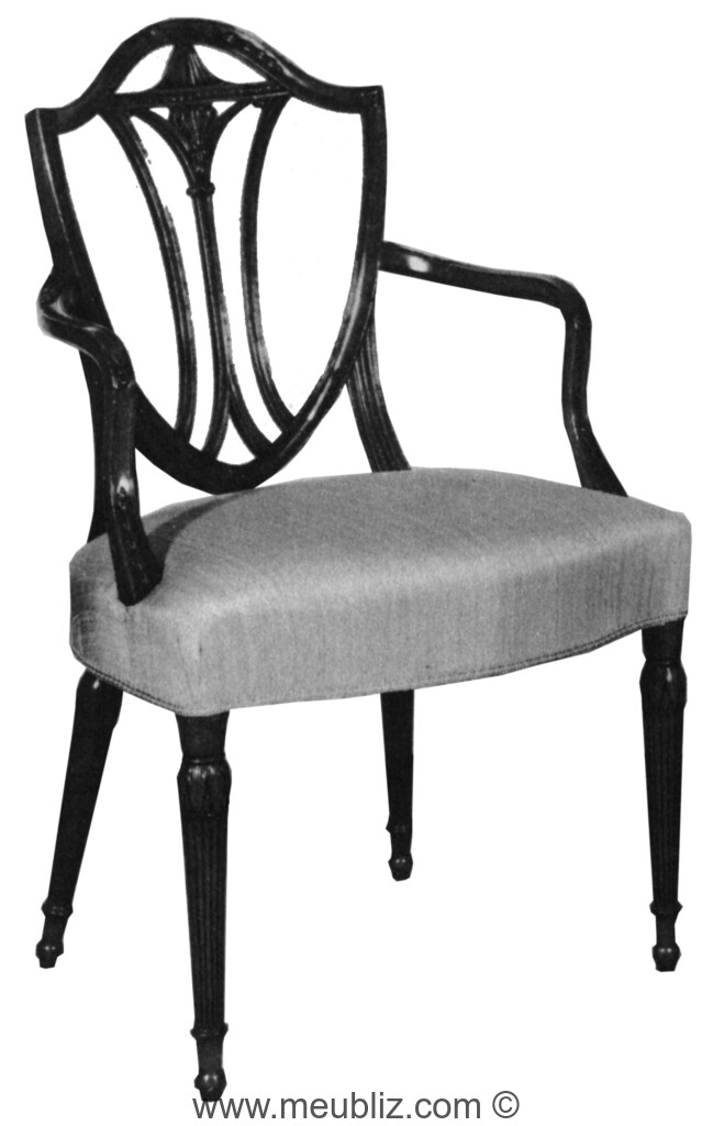 premium selection 47169 662aa Chaise anglaise Hepplewhite