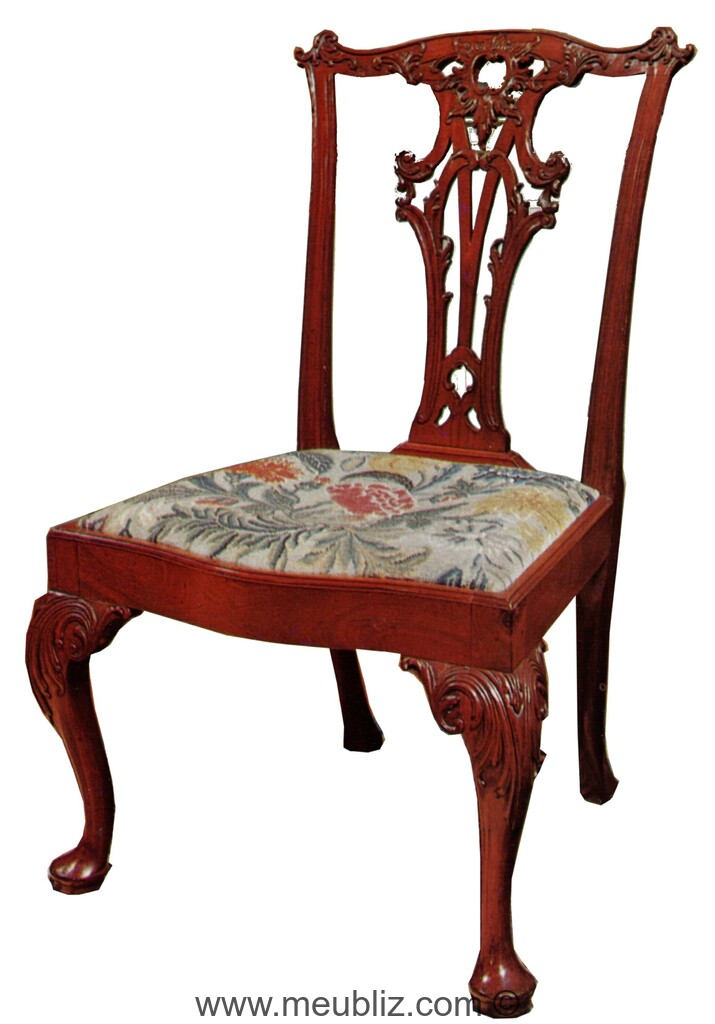 Style anglais chippendale 1754 1770 for Meuble chippendale