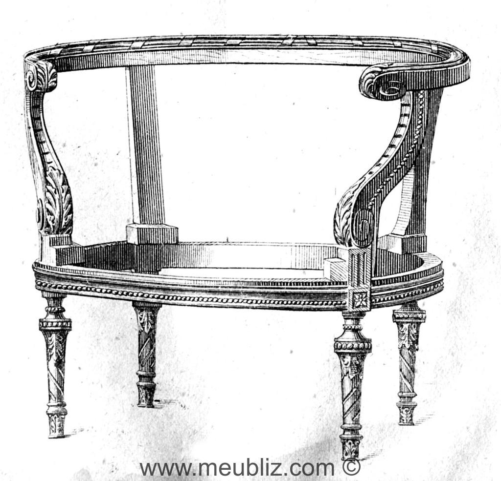 berg re louis xvi dossier bas horizontal et enveloppant meuble de style. Black Bedroom Furniture Sets. Home Design Ideas